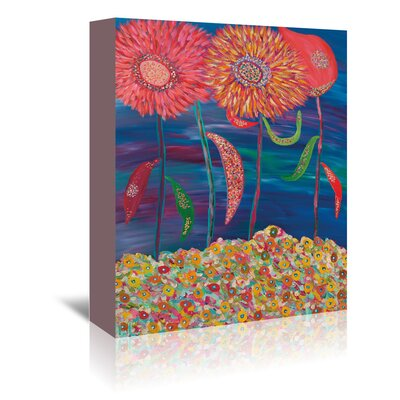 Americanflat Blooms of Mars' by Helen Joynson Art Print Wrapped on Canvas