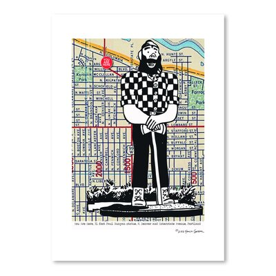 Americanflat 'Paul Bunyan Statue Portland' by Lyn Nance Sasser and Stephen Sasser Graphic Art