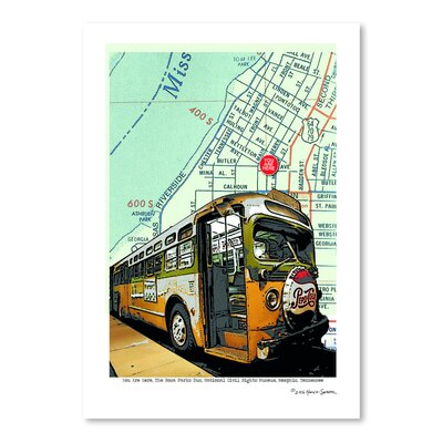 Americanflat 'Rosa Parks Bus' by Lyn Nance Sasser and Stephen Sasser Graphic Art