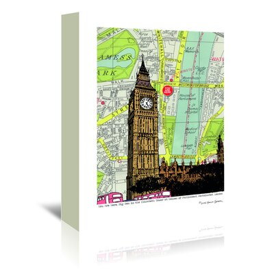 Americanflat Parliament and Big Ben London' by Lyn Nance Sasser Graphic Art Wrapped on Canvas