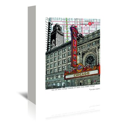 Americanflat 'Chicago Theatre' by Lyn Nance Sasser and Stephen Sasser Graphic Art Wrapped on Canvas