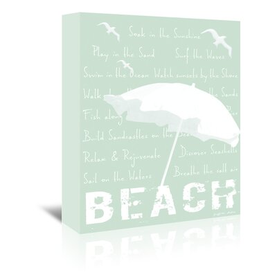 Americanflat 'Soak in The Sunshine Beach in Grey Mist' by Graffi Tee Studios Graphic Art Wrapped on Canvas