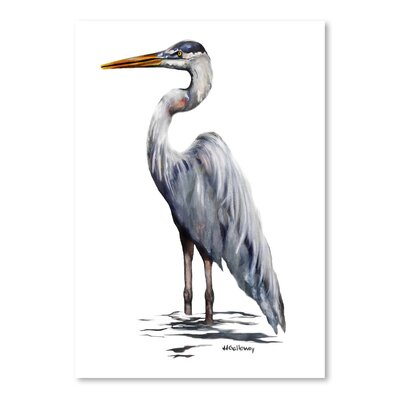 Americanflat Blue Heron with White Back' by JJ Galloway Art Print