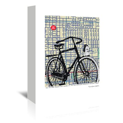 Americanflat 'Bicycle on Hawthorne Portland' by Lyn Nance Sasser and Stephen Sasser Graphic Art Wrapped on Canvas