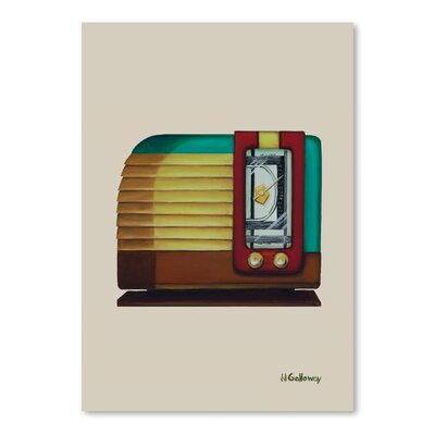 Americanflat 'Old Fashion Radio' by JJ Galloway Art Print