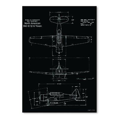 Americanflat 'Prop Plane Specs' by Graffi Tee Studios Graphic Art