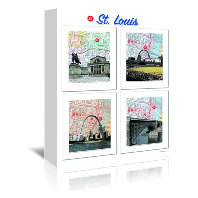 Americanflat Big St. Louis Poster' by Lyn Nance Sasser Graphic Art Wrapped on Canvas