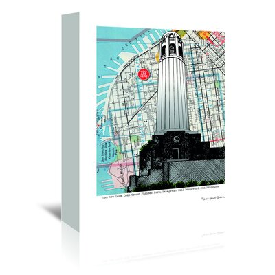 Americanflat Colt Tower - San Francisco' by Lyn Nance Sasser Graphic Art Wrapped on Canvas