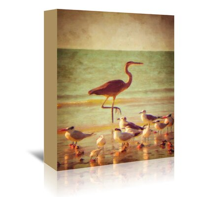 Americanflat 'Great Heron' by Graffi Tee Studios Photographic Print Wrapped on Canvas