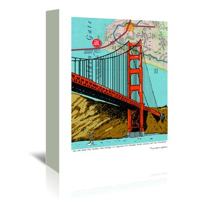 Americanflat 'Golden Gate Bridge - San Francisco' by Lyn Nance Sasser and Stephen Sasser Graphic Art Wrapped on Canvas
