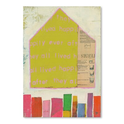Americanflat 'Happy Home in Yellow' by Julie Beyer Graphic Art