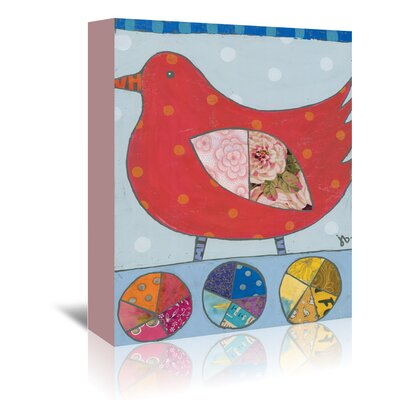 Americanflat 'Red Bird' by Julie Beyer Graphic Art Wrapped on Canvas