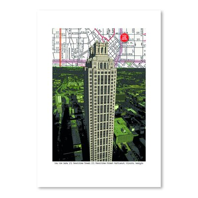Americanflat 'Peachtree Tower' by Lyn Nance Sasser and Stephen Sasser Graphic Art