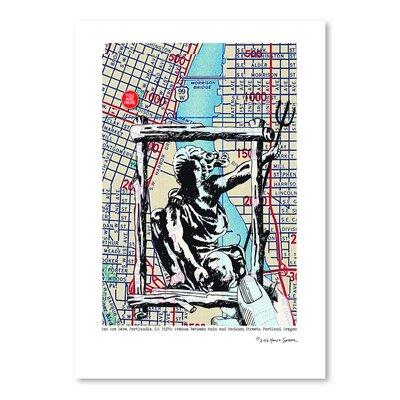 Americanflat 'Portland in Frame Portland' by Lyn Nance Sasser and Stephen Sasser Graphic Art