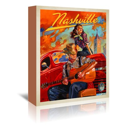Americanflat 'KC NashvilleDreams' by Joel Anderson Vintage Advertisement Wrapped on Canvas