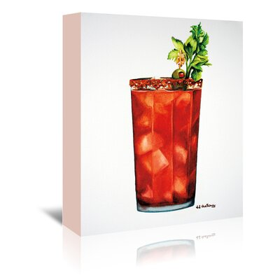 Americanflat 'Bloody Mary' by JJ Galloway Art Print Wrapped on Canvas