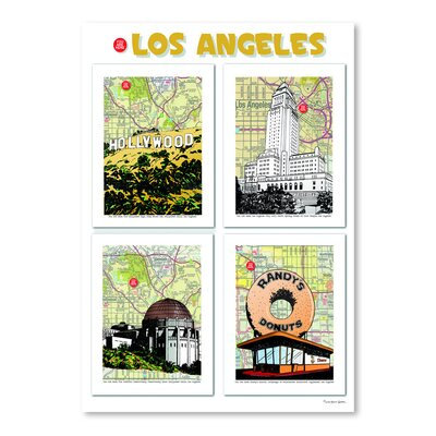 Americanflat 'Los Angeles Poster' by Lyn Nance Sasser and Stephen Sasser Graphic Art
