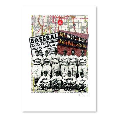 Americanflat 'Negro Leagues Baseball Museum Kansas City' by Lyn Nance Sasser and Stephen Sasser Vintage Advertisement