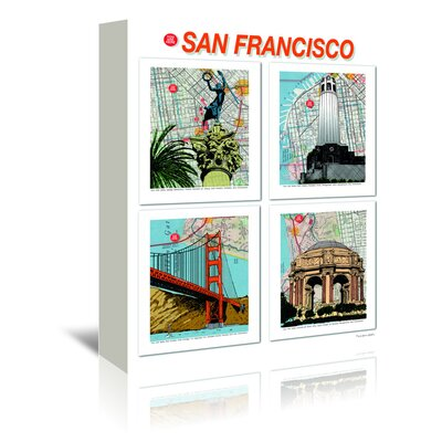 Americanflat 'San Francisco Poster' by Lyn Nance Sasser and Stephen Sasser Graphic Art Wrapped on Canvas