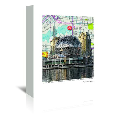 Americanflat 'Science World Vancouver' by Lyn Nance Sasser and Stephen Sasser Graphic Art Wrapped on Canvas