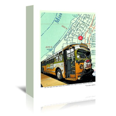 Americanflat 'Rosa Parks Bus' by Lyn Nance Sasser and Stephen Sasser Graphic Art Wrapped on Canvas
