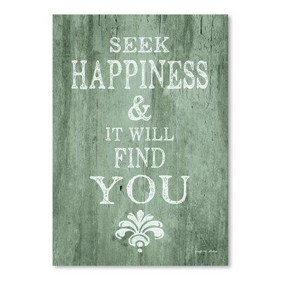 Americanflat 'Seek Happiness' by Graffi Tee Studios Typography