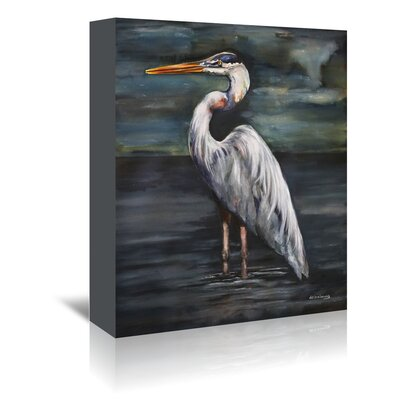 Americanflat 'Blue Heron at Dusk' by JJ Galloway Art Print Wrapped on Canvas