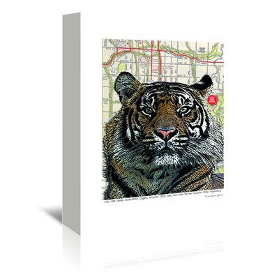 Americanflat 'Kansas City Tiger' by Lyn Nance Sasser and Stephen Sasser Graphic Art Wrapped on Canvas