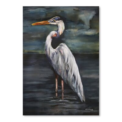 Americanflat 'Blue Heron at Dusk' by JJ Galloway Art Print