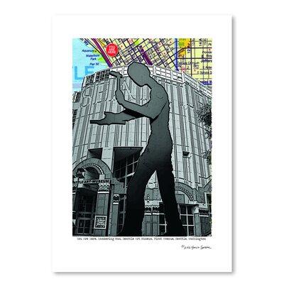 Americanflat 'Hammering Man Seattle' by Lyn Nance Sasser and Stephen Sasser Graphic Art