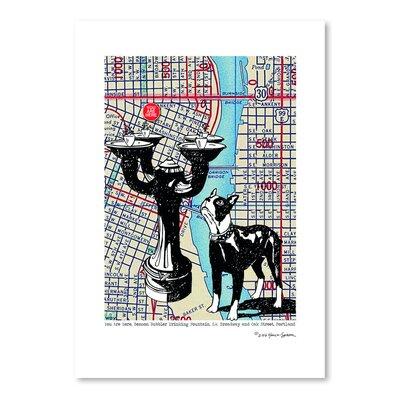 Americanflat 'Benson Bubbler Drinking Fountain - Portland' by Lyn Nance Sasser and Stephen Sasser Graphic Art