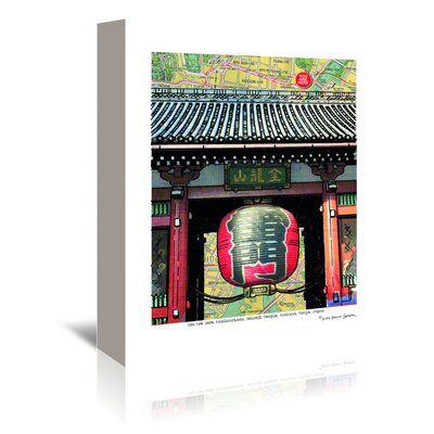Americanflat Kaminari Gate' by Lyn Nance Sasser Graphic Art Wrapped on Canvas