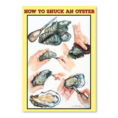 Americanflat 'How to Shuck An Oyster' by JJ Galloway Graphic Art