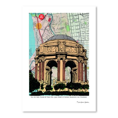 Americanflat 'Palace of Fine Arts' by Lyn Nance Sasser and Stephen Sasser Graphic Art