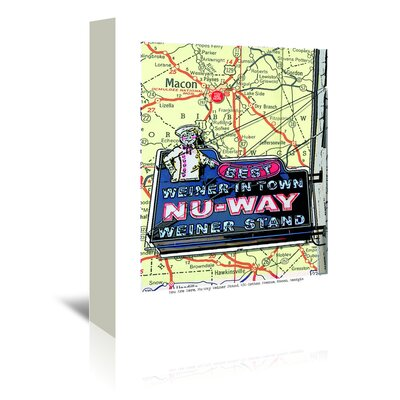 Americanflat 'Nu Way Weiner Macon' by Lyn Nance Sasser and Stephen Sasser Graphic Art Wrapped on Canvas