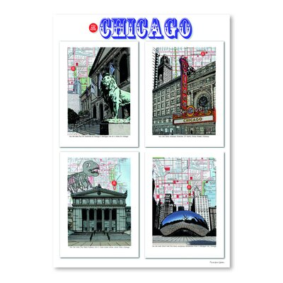 Americanflat 'Chicago Poster' by Lyn Nance Sasser and Stephen Sasser Graphic Art