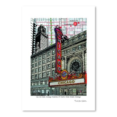 Americanflat Chicago Theatre' by Lyn Nance Sasser Graphic Art