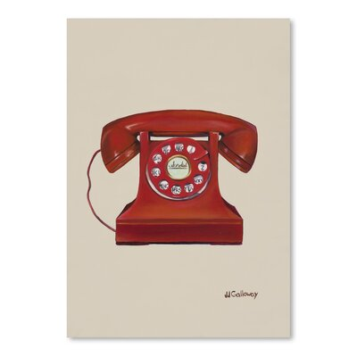 Americanflat 'Phone with A Cord' by JJ Galloway Art Print