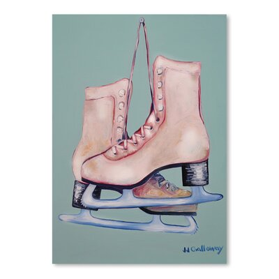 Americanflat My Old Skates' by JJ Galloway Art Print