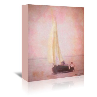 Americanflat Sailing in Venice' by Graffi Tee Studios Graphic Art Wrapped on Canvas