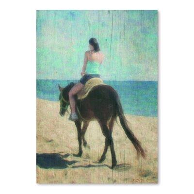 Americanflat 'Morning Beach Ride' by Graffi Tee Studios Art Print