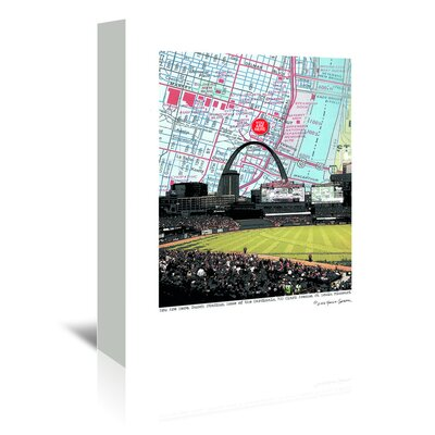 Americanflat 'Busch Stadium Inside' by Lyn Nance Sasser and Stephen Sasser Graphic Art Wrapped on Canvas