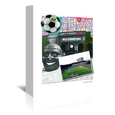 Americanflat 'Providence Park Portland' by Lyn Nance Sasser and Stephen Sasser Graphic Art Wrapped on Canvas