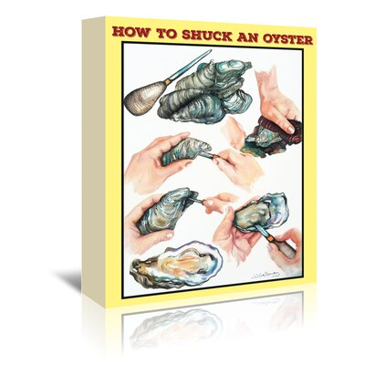Americanflat 'How to Shuck An Oyster' by JJ Galloway Graphic Art Wrapped on Canvas