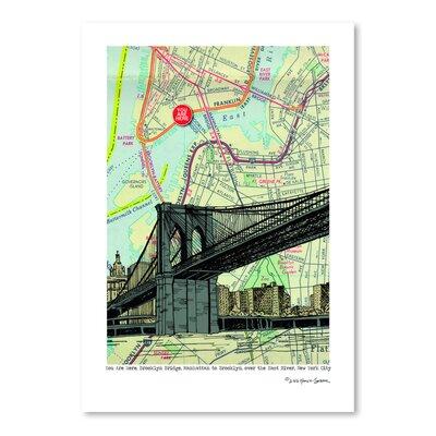 Americanflat 'Brooklyn Bridge - Nyc' by Lyn Nance Sasser and Stephen Sasser Graphic Art