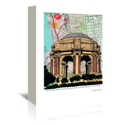 Americanflat 'Palace of Fine Arts' by Lyn Nance Sasser and Stephen Sasser Graphic Art Wrapped on Canvas