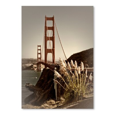 Americanflat 'Vintage Style Golden Gate Bridge' by Melanie Viola Photographic Print