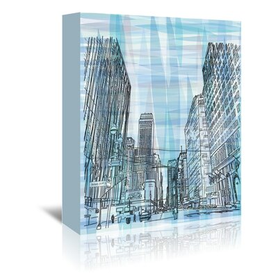 Americanflat '16B11 Nyc Blend' by Marian Nixon Graphic Art Wrapped on Canvas