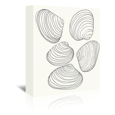 Americanflat 'Clams' by Jorey Hurley Art Print Wrapped on Canvas
