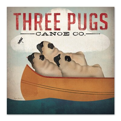 Americanflat Three Pugs' by Wild Apple Vintage Advertisement